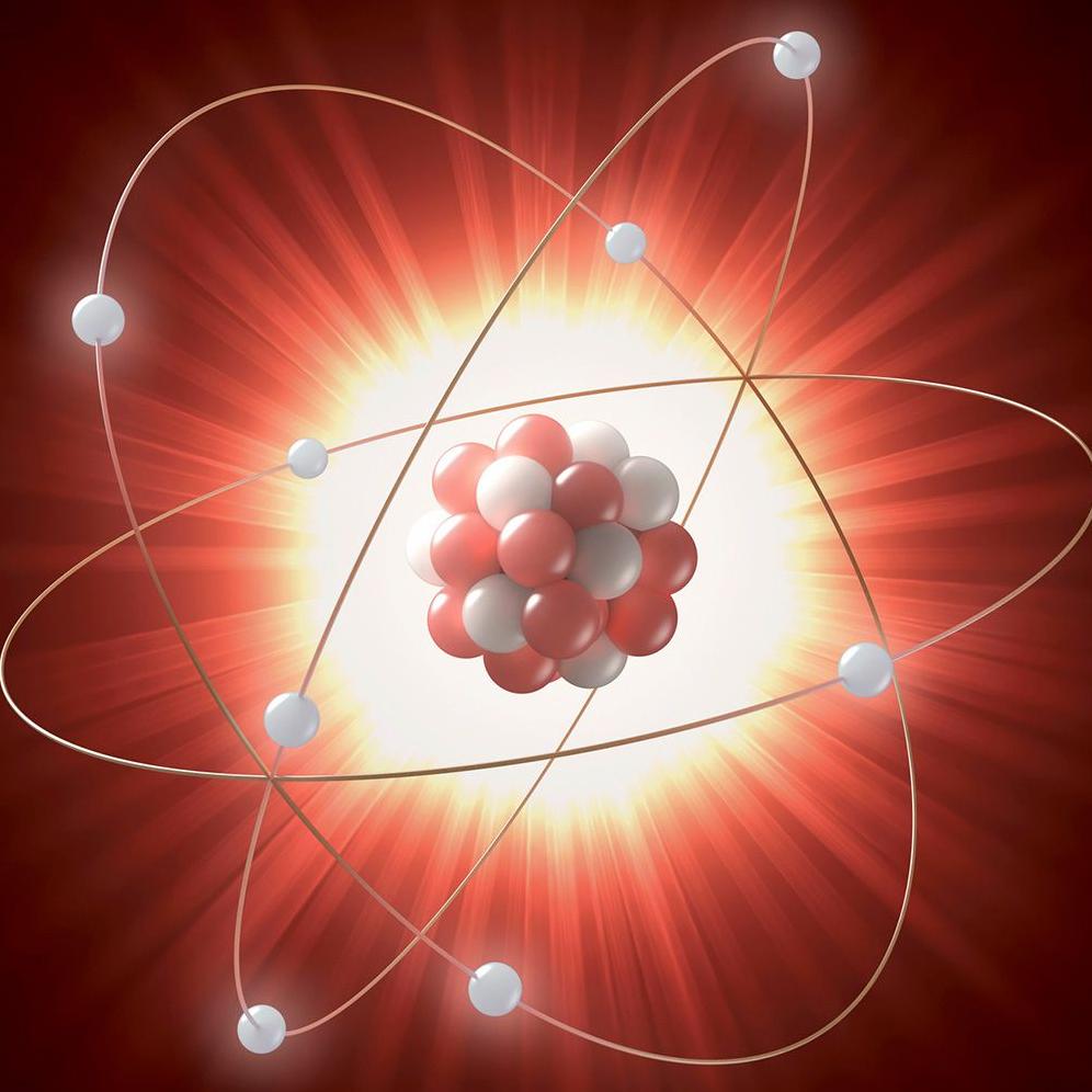 visione artistica di un atomo